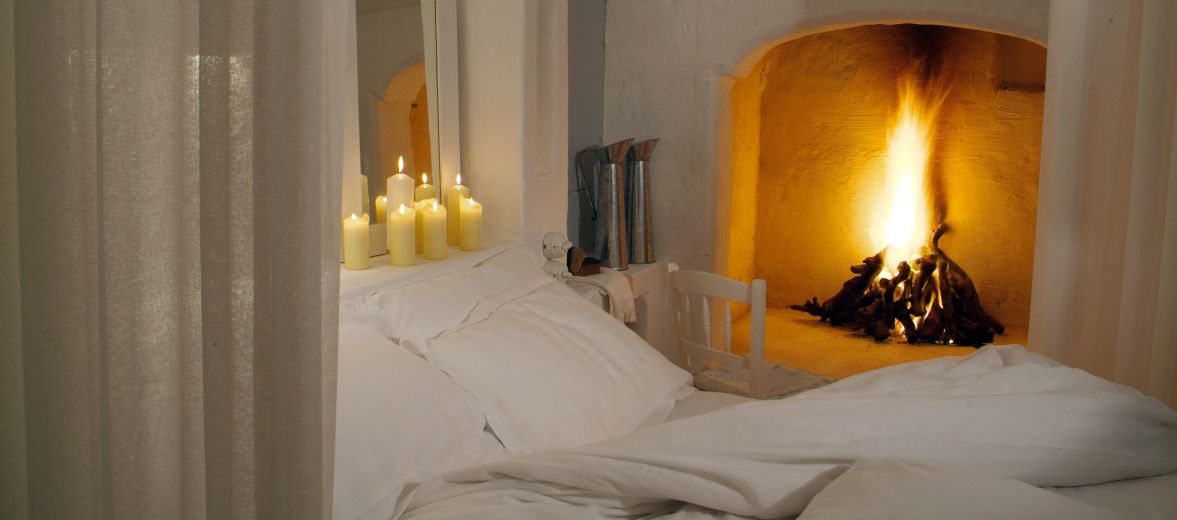 Fabulously romantic, Masseria Cimino in Puglia, Italy - a boutique interior