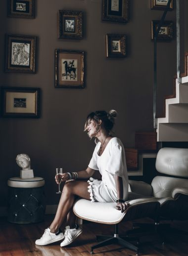 Casa Amora, Lisbon, Boutique, Hotel, photo of woman sitting by stairs, style, design