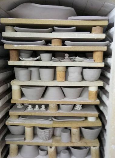 Blue Ceramics from Muck'n'Muffin: a sisterly venture of handmade goods in Dunfanaghy Ireland