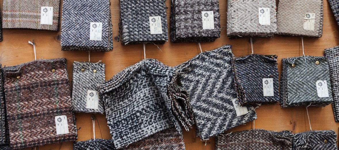 Samples of Moessmer wool, a famed luxury product in South Tyrol