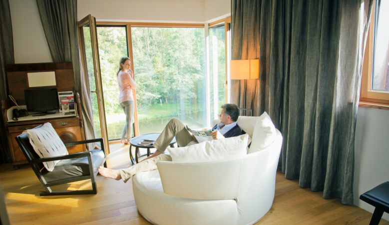 Deluxe rooms Luxury Suite Accommodation Hotel & Restaurant Mühltalhof Neufelden, is a riverside boutique hotel and culinary hotspot in Austria