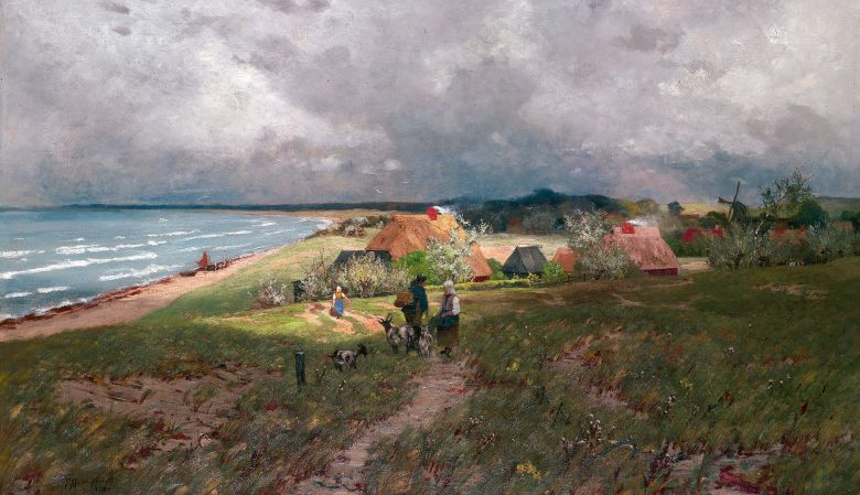 Paul Müller-Kaempff (1861-1941) – Blick auf Ahrenshoop, 1890, Baltic Sea, Germany, artist village