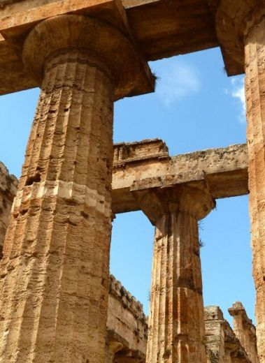 Paestum Temples in Cilento Southern Italy is a UNESCO World Heritage Site, ancient Greek temples