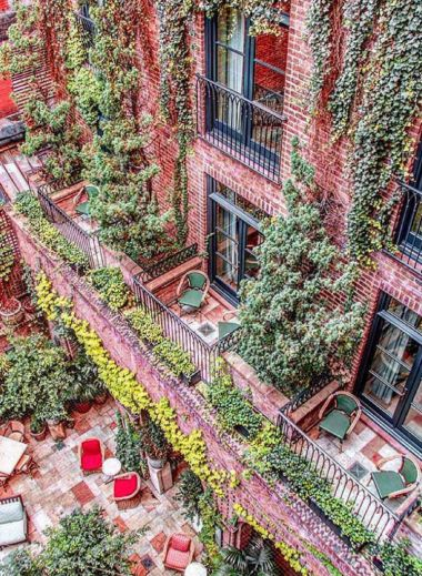 Greenwich, hotel, design, New York, architecture, balcony
