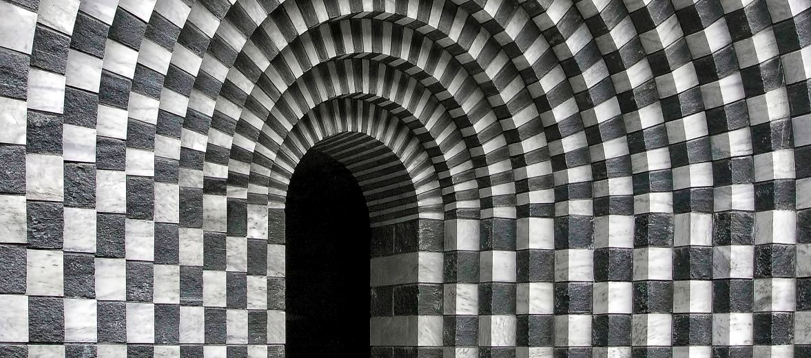 Photo by Ricardo Gomez Angel | Black Gneiss, White Marble | Mario Botta's church of San Giovanni Battista