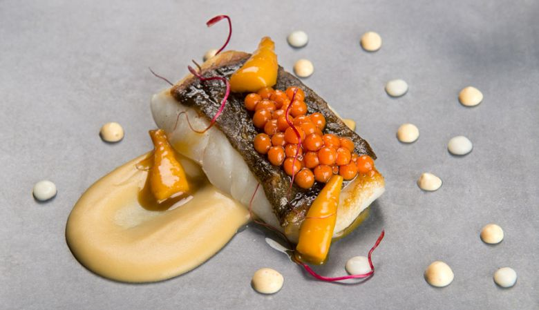 Gourmet dining at the one star Michelin Roca Moo Restaurant , Hotel Omm Barcelona