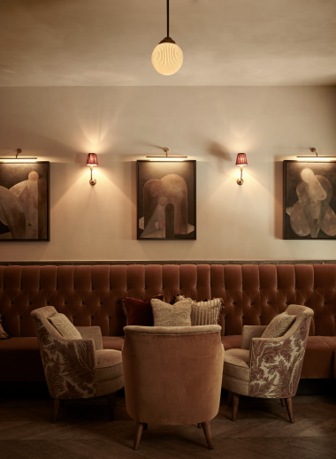Curated artworks for hotel bar TATA at the Sanders Hotel Copenhagen, desgined by Lind + Almond