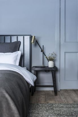 Dinky Luxe: Small Design Hotel Scotland - Killiehuntly Farmhouse, boutique blue interiors at this small luxury guesthouse in the Scottish Highland - /bedroom in Farrow ball blues