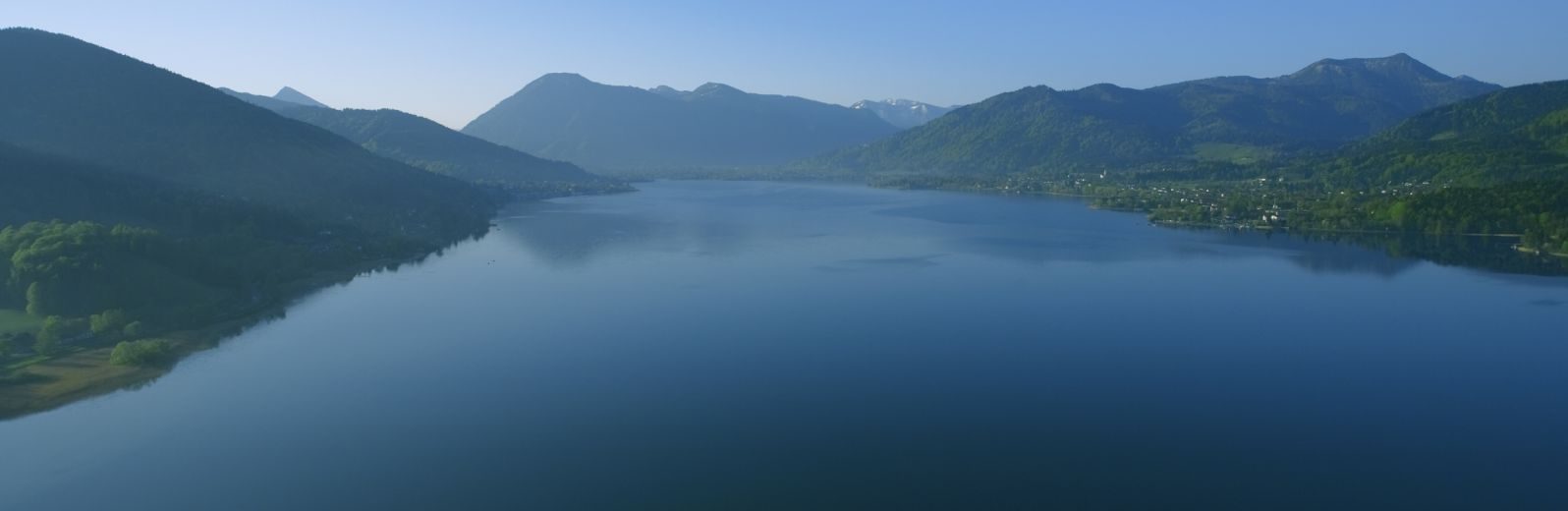 Tegernsee in the heart of Bavaria, Germany, a scenic landscape image of the lakes and alps.