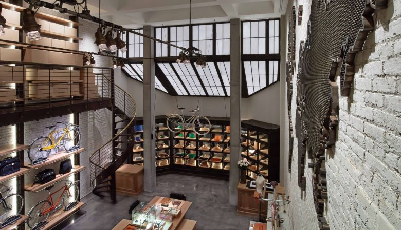 Shinola Flagship store on 177 Franklin in the design district of Tribeca, New York