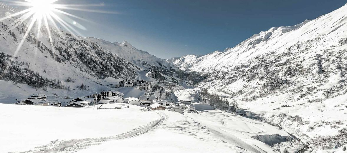 Ski destination Tirol just up from the The luxury Boutique Spa Hotel Bergwelt, Obergurgl in Tirol, Austria.