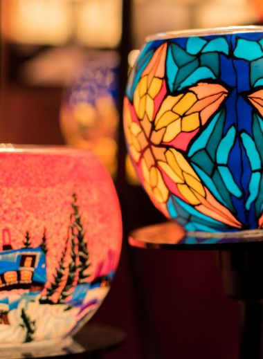christmas present zurich, crafted gift, colurful lanterns