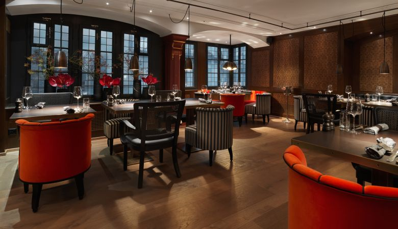 Hotel restaurant Interiors, design, Widder Bar & Kitchen Zurich, Switzerland