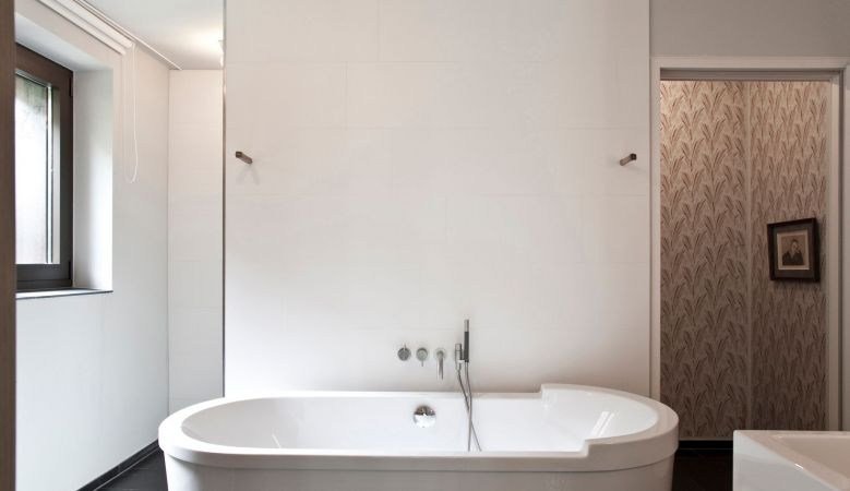 Free standing bathtub Luxury Suite Accommodation Hotel & Restaurant Mühltalhof Neufelden, is a riverside boutique hotel and culinary hotspot in Austria
