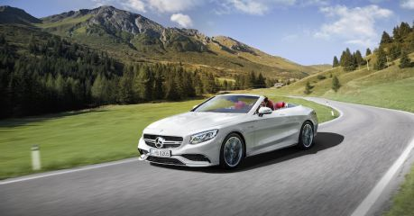 Mercedes Benz, car, driving, alps, lech, mountains, austria