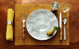 Svenskt Tenn Stockholm, table setting at the interior desgin store