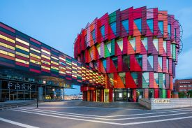 Kuggen Chalmers University of technology Gothenburg Sweden, modernist facade of the main building
