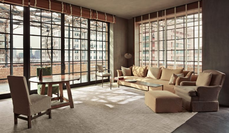 The Greenwich Hotel, NYC, design, interior, penthouse, Axel Vervoordt, wabi sabi, Japanese
