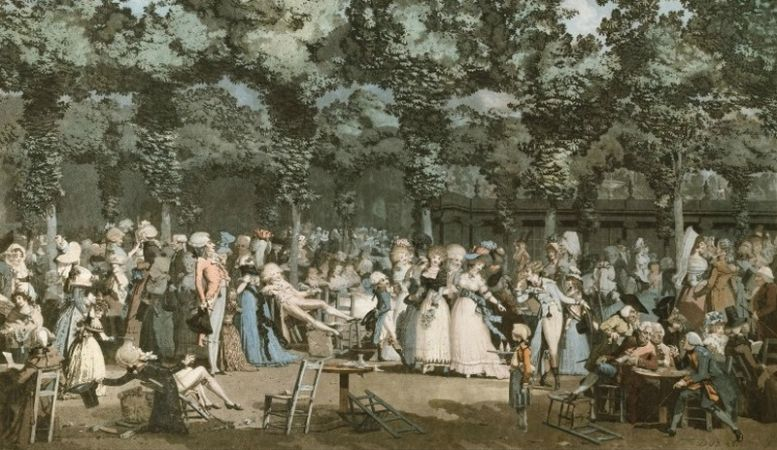 The Public Promenade | Louis Philibert Debucourt , 1792 | The Met - 'Public Parks, Private Garden: Paris to Provence'The Met, New York