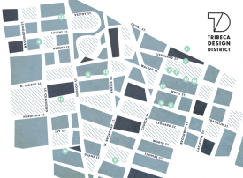 Tribeca map of the design district and designer shopping in New York