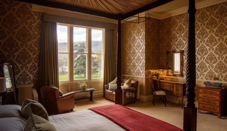 Luxury four poster suite with views of Lake Ullswater, The Lake Hotel, Another Place by Luke Hayes