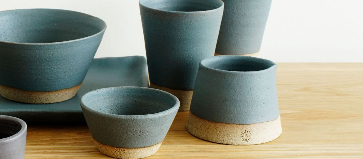 Blue-Green Pottery & Ceramics from Muck'n'Muffin: a sisterly venture of handmade goods in Dunfanaghy Ireland | Breac.House