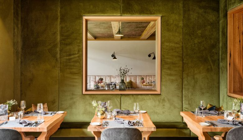 Private dining rooms at Gastro food at the modern design hotel & spa, Forsthofgut in Leogang Austria