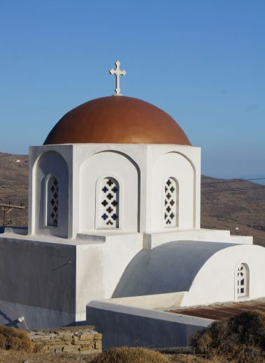 Church architecture on the saintly island of Tinos , Greece, Cyclades