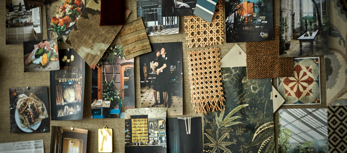 Hotel design mood boards of Copenhagen's Sanders by LIND+ALMOND