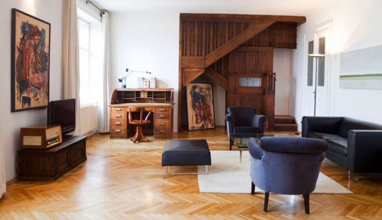 Characterful Otto Suite at the art inspired at the Boutique Hotel Altstadt Vienna, Austria