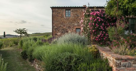 Dinky Luxe: Small Design Hotel Italy - Follonico, exteriors at this small luxury guesthouse in Tuscany