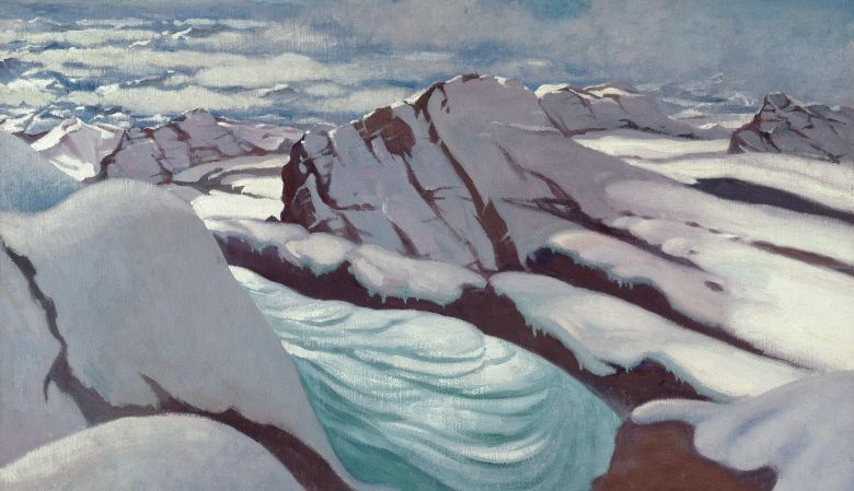 Félix Vallotton High Alps, Glaciers and Snowy Summits, 1919 Oil on canvas, 73 x 100 cm Kunsthaus Zürich, The Gottfried Keller Foundation, Federal Office of Culture, Berne, 1978