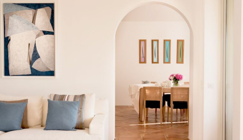 Spacious holiday-rental Villa interior at the luxe resort in Ramatuelle.