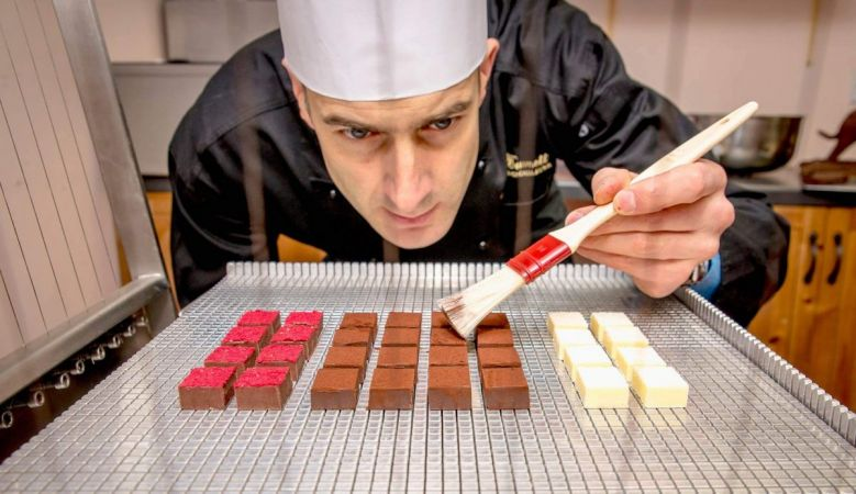 Highland Chocolatier Iain Burnett at work in Scotland