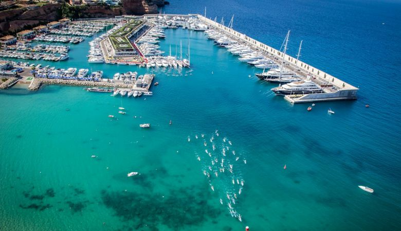 aereal view of Port Adriano Mallorca designed by Philippe Starck