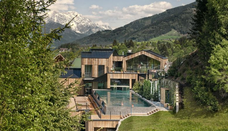 The modern day hotel & spa, Forsthofgut in Leogang Austria, with a 400-year history