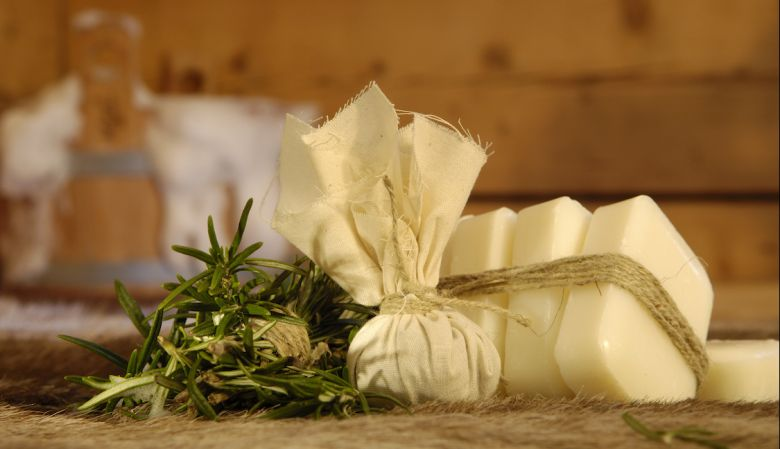 Hand made herbal soaps, wellness boutique Hotel Hubertus Alpin Lodge and Spa in the Allgäu Mountains, Germany