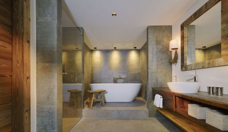 Hotel Arlberg luxury hotel bathroom in Lech am Arlberg in Austria
